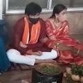 Niharika and Chaitanya offers special prayers at Annavaram shrine