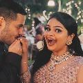 Actress VidyullekhaRaman gets engaged to Sanjay