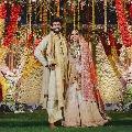 Miheeka wears designer Lehenga in wedding with Rana
