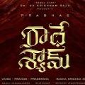 Prabhas New Movie Radheshyam First Look