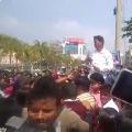 Volunteers agitation at Vijayawada MIuncipal Corporation office