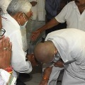 Chirag Paswan Touched Nitish Kumars Feet