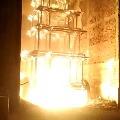 Antarvedi Sri Laxminarasimhaswamy chariot burnt