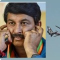 BJP MP Manoj Tiwari escaped an unexpected danger