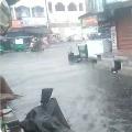 Hevay Rain lashes Vijayawada city