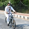 UP minister cycles to work for green cause