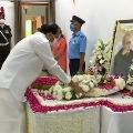 Prime Minister Narendra Modi pays last respects to former President PranabMukherjee