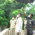 Chandrababu hoisted national flag at his residence in Independence Day
