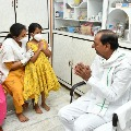 KCR invited us for lunch says Col Santhosh Babu wife Santhoshi