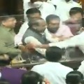 Congress MLCs in Karnataka Assembly forcefully remove the chairman