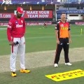 Sunrisers Hyderabad won the toss against Kings XI Punjab