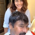 Susmitha cuts hair to his father Chiranjeevi