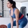 Samantha Latest Heavy Weight  Gym Workout