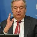 UN Secretary General Antonio Guterres warns about corona pandemic