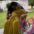 Allu Arjun with grand mother in home