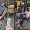 Hero Nani and his wife Anjana donates blood for NTR Trust