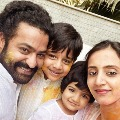 Junior NTR shares a new pic of Holi with family members