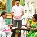 Cm kcr meets Governor Tamilisai