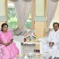 CM KCR and Minister Eetal met Governor Tamilisye