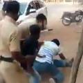 Wanaparthy Constable Who manhandle a biker suspended