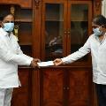 NTV Narendra Choudary handed over checks to CM KCR