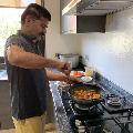 Revant reddy Cooks for his wife geetha