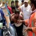 Madhya Pradesh Sanitation Worker Attacked Clothes Ripped