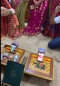 Gujrat couple made online engagement via whatsapp call