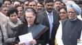 Congress Chief Sonia Gandhi met prez Kovind Over Delhi violence