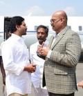 CM Jagan and TG Venkatesh meets at Orvakallu airport