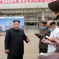 North Korea president Kim Jong Un chairs a meeting