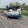 Sand Laden Lorry Collides With RTC Bus