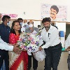 GHMC Mayor Vijayalakshmi celebrates her birthday at Basavatarakam cancer institute