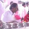CM KCR menu in Vasalamarri grand dining