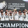 Kiwis won first world test championship trophy