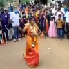 Tamilnadu girl performs martial arts in her wedding celebrations