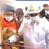 CM KCR cut the ribbon with hands in an angry moment