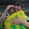 Lionel Messi Consoles Neymar After Brazil Lose Copa America 2021 Final