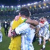 Winning side Messi consoles his friend Neymar