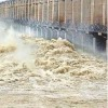 flood water coming to jurala project from Upper areas