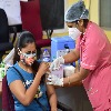 People Heavily Gathered For Second Dose In Khammam