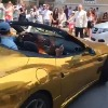 Anand Mahindra responds to golden ferrari car in USA