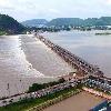 Flood water arrives at Prakasam Barrage