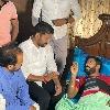 Revanth Reddy visits injured NSUI President Venkat Balmoor