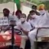Rahul Gandhi Rides Tractor to Parliament