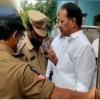 Nakka Anand Babu gets anger on police at his residence