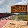 First goods train from Indias Haldibari to Chilahati in Bangladesh