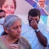 Union Minister Nirmala fire on ration dealer for not putting Modi photo