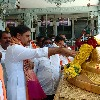 Vishnuvardhan Reddy performs oath at Kanipakam Temple