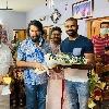Malayala superstar Mammutti surprises Indian hockey team goalkeeper Sreejesh